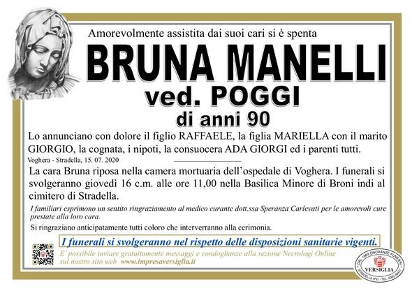 Necrologio di Manelli Bruna