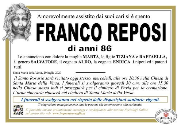 Necrologio di REPOSI FRANCO