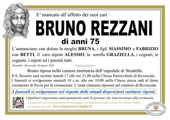 Necrologio di BRUNO REZZANI