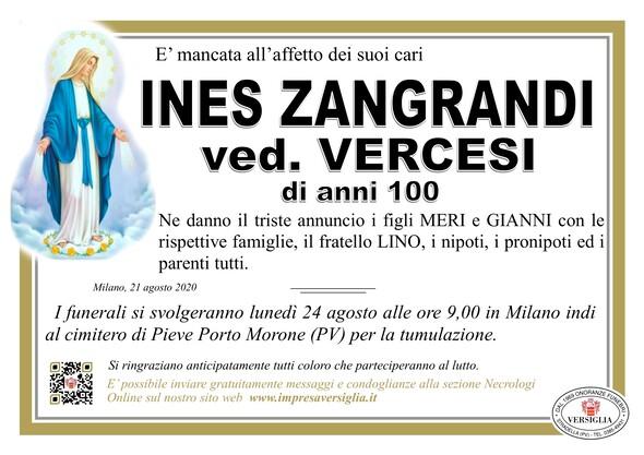 Necrologio di INES ZANGRANDI