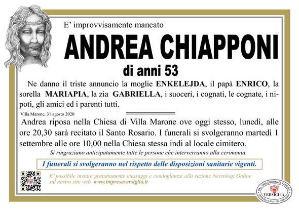 Necrologio di CHIAPPONI ANDREA