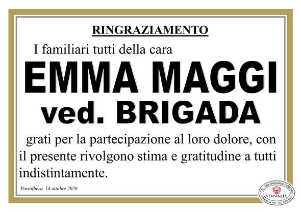 Ringraziamenti per MAGGI EMMA