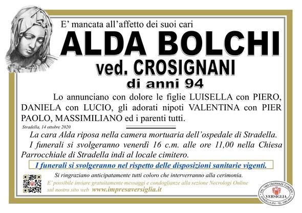 Necrologio di BOLCHI ALDA