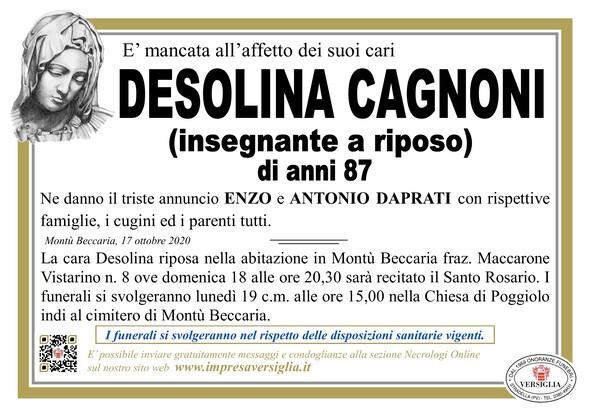 Necrologio di CAGNONI DESOLINA