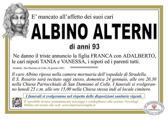 Necrologio di ALTERNI ALBINO
