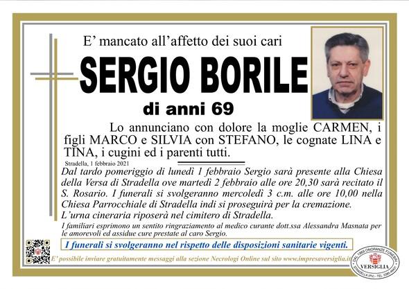 Necrologio di BORILE SERGIO