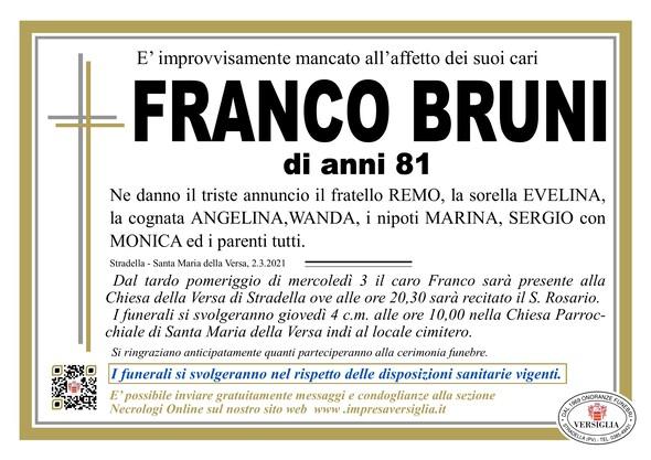 Necrologio di BRUNO  FRANCO