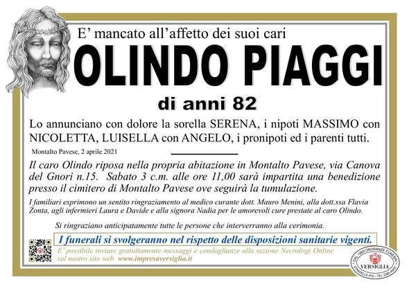 Necrologio di PIAGGI OLINDO