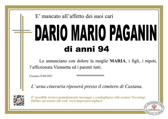Necrologio di PAGANIN DARIO MARIO
