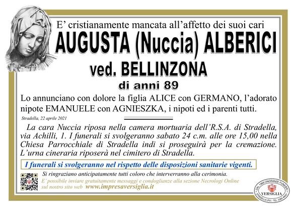 Necrologio di ALBERICI AUGUSTA