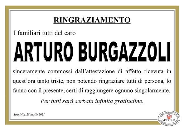 Ringraziamenti per Burgazzoli  Arturo