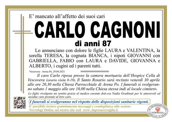 Necrologio di CAGNONI CARLO