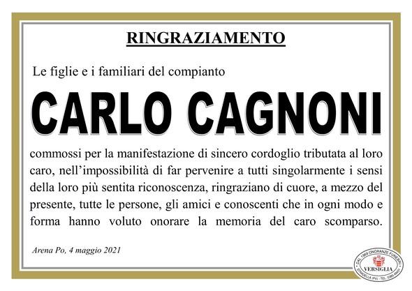 Ringraziamenti per CAGNONI CARLO