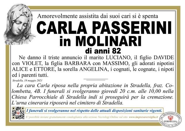 Necrologio di PASSERINI CARLA