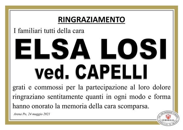 Ringraziamenti per LOSI  ELSA