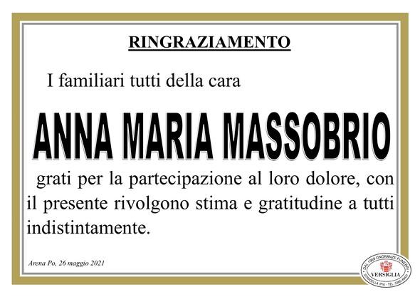 Ringraziamenti per MASSOBRIO ANNA MARIA