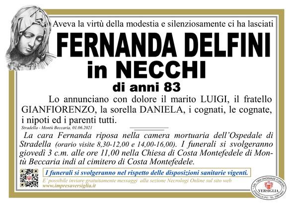 Necrologio di DELFINI FERNANDA