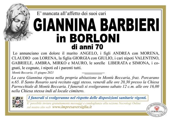 Necrologio di Barbieri Giannina