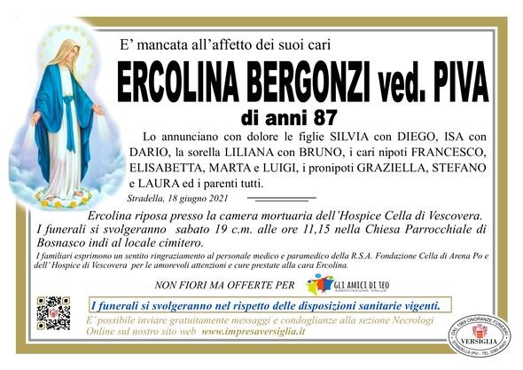 Necrologio di BERGONZI ERCOLINA
