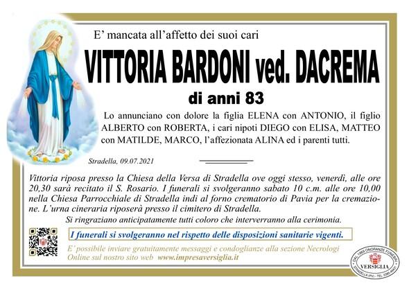 Necrologio di Bardoni Vittoria Maria