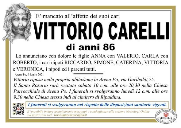 Necrologio di CARELLI VITTORIO