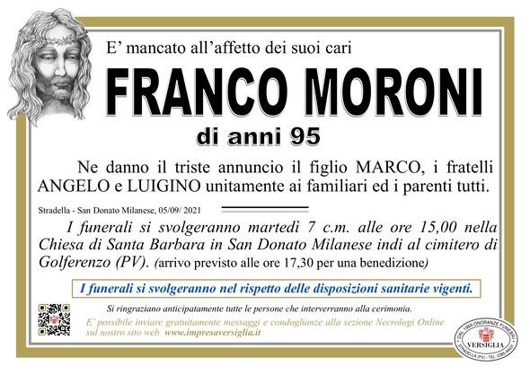 Necrologio di MORONI FRANCO