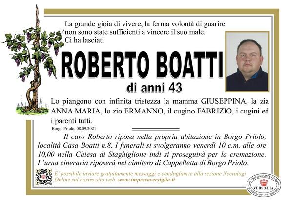 Necrologio di ROBERTO BOATTI